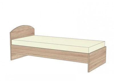 postel s oblým čelom bez úlož. priestoru
